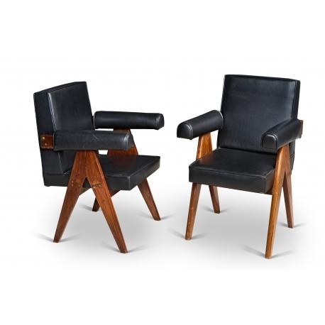 Pierre JEANNERET.  Armchair.