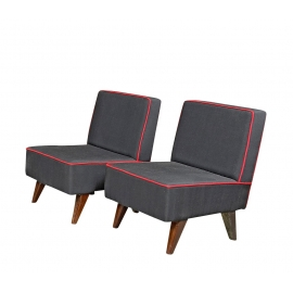 Teak low chair.