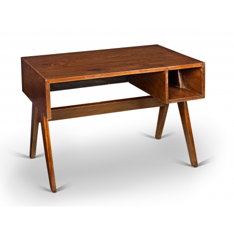Pierre JEANNERET. Desk in solid sissoo (Indian rosewood).