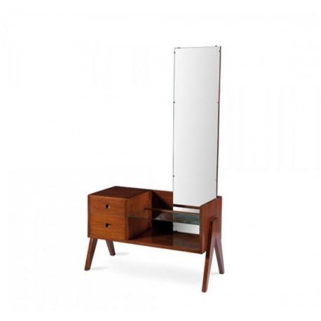 "Pierre JEANNERET. Coiffeuse dite ""Dressing table"" en teck massif."