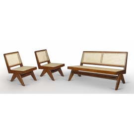Teak lounge furniture.