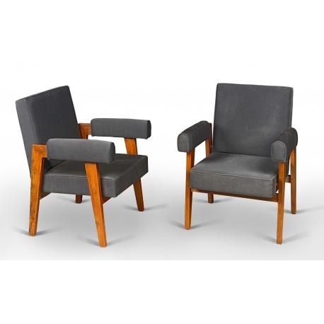 LE CORBUSIER and Pierre JEANNERET. Armchair.