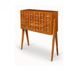 Pierre JEANNERET. File chest in solid teak.