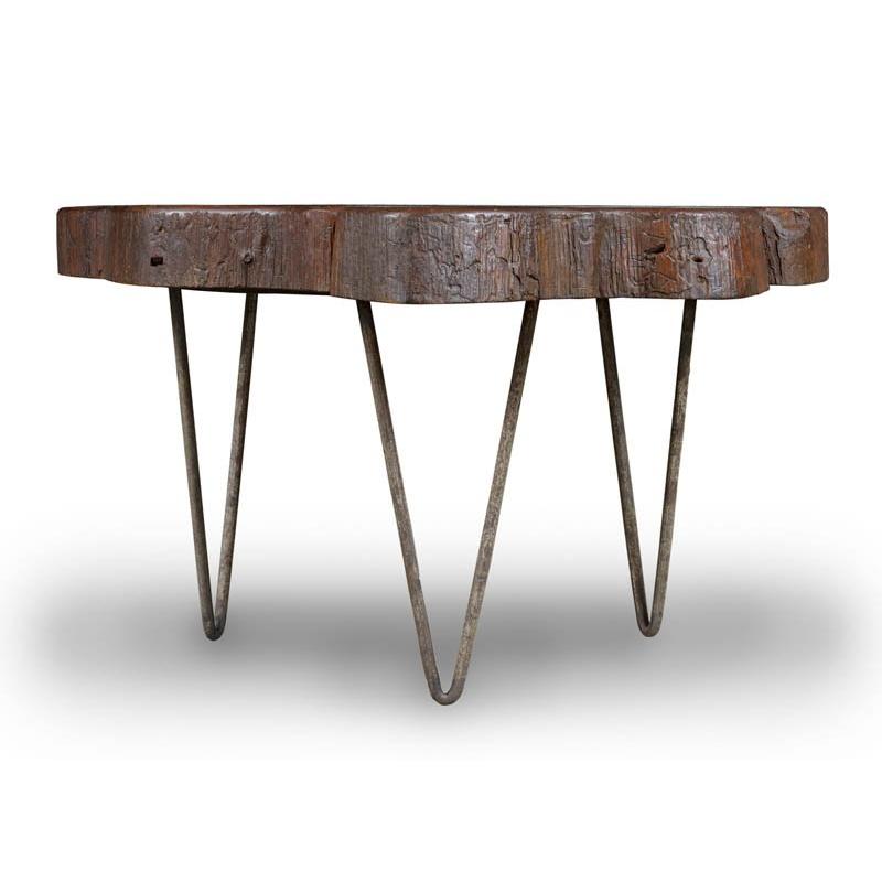 Table basse en teck chandigarh design - Table basse corbusier ...