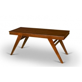 Pierre JEANNERET. Table basse en sisso massif.