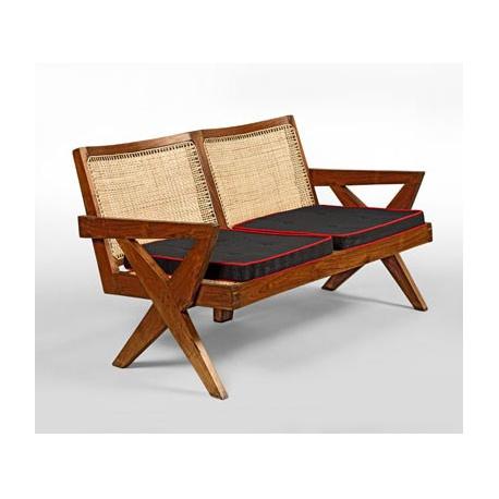 banquette en teck chandigarh design. Black Bedroom Furniture Sets. Home Design Ideas