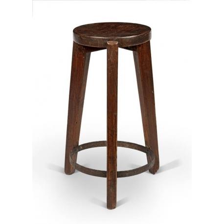 Pierre JEANNERET. Round stool.