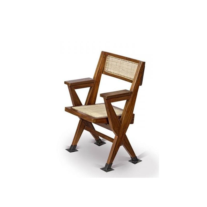 fauteuil pliant en teck chandigarh design. Black Bedroom Furniture Sets. Home Design Ideas