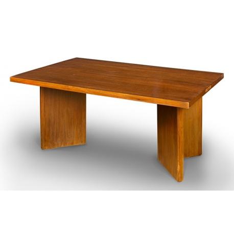 Pierre JEANNERET. Table en teck.