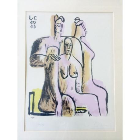 Le Corbusier. Trois femmes assises.
