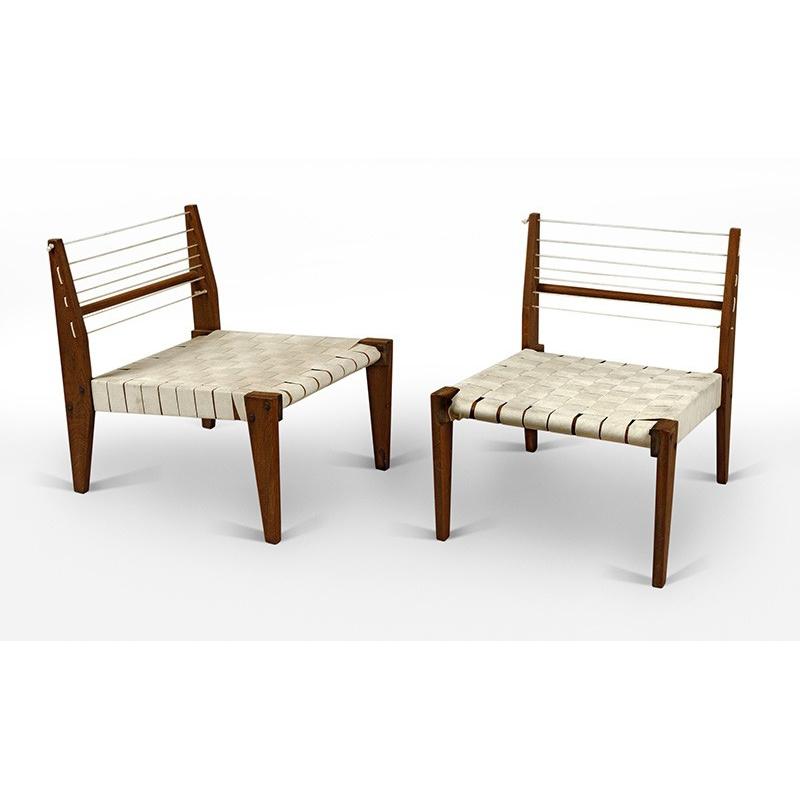 Teak Low Chair Chandigarh Design