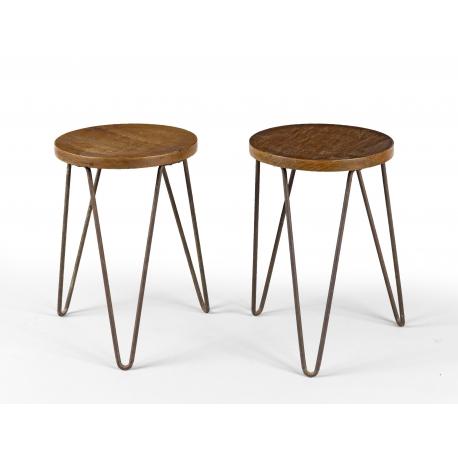 LE CORBUSIER and BALKRISHNA DOSHI. Low stool.