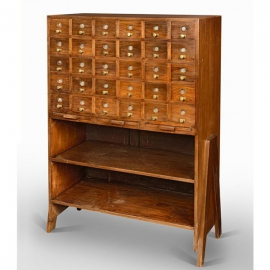 Teak file cupboard