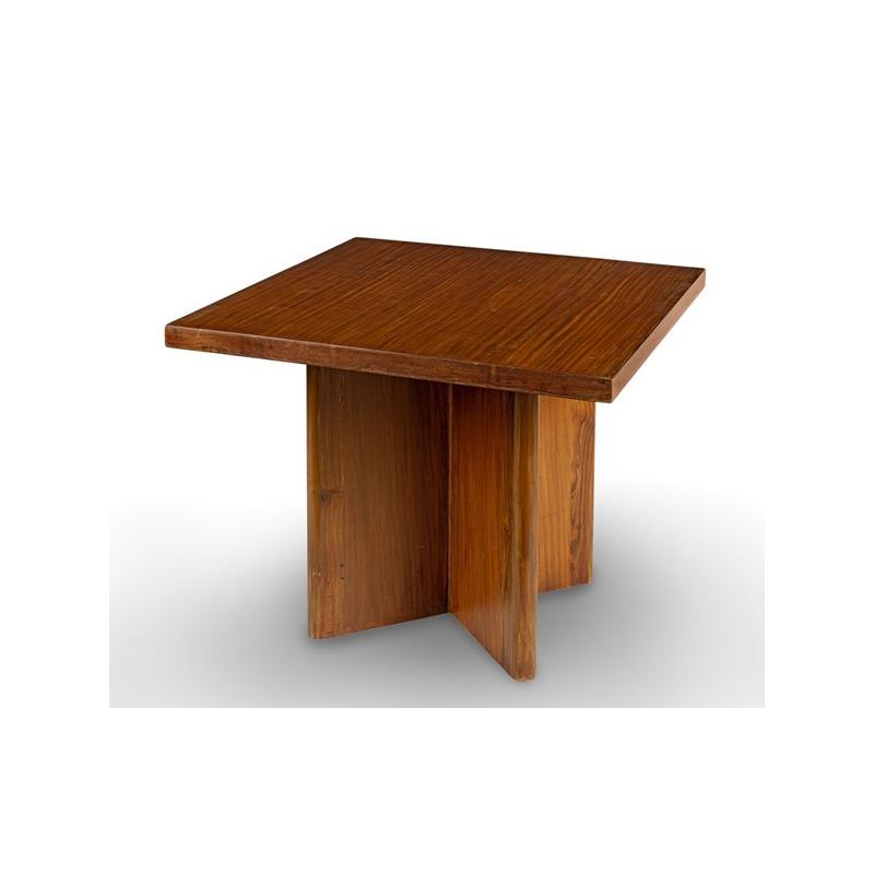 table basse teck pierre bleue. Black Bedroom Furniture Sets. Home Design Ideas