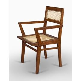 Pierre JEANNERET. Teak armchair.