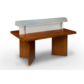 Teak reading light table