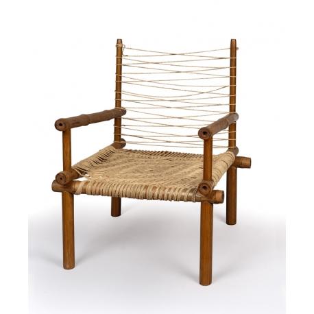 Bamboo and teak  armchair