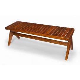 Pierre JEANNERET. Solid teak bench.