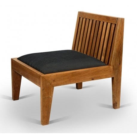 Teak Low Chair Chandigarh Design