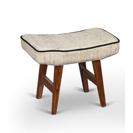 Pierre JEANNERET. Low stool.