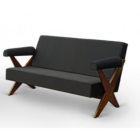 Pierre JEANNERET. Teak sofa.