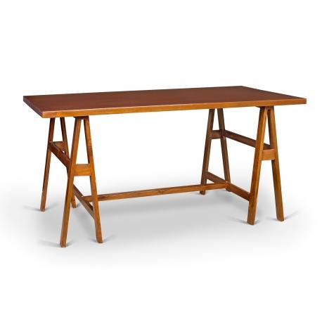 Pierre JEANNERET. Desk in solid teak and teak veneer.