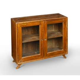 Teak low storage unit