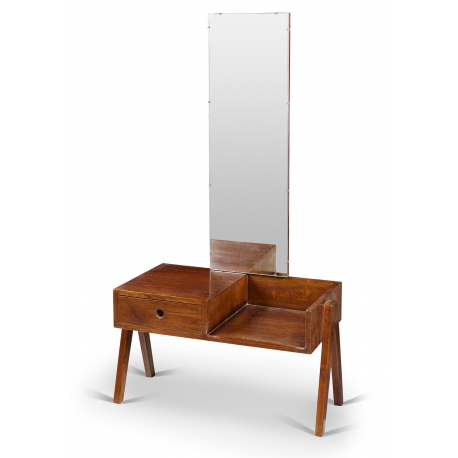 "Pierre JEANNERET. Table known as ""Dressing table"" in solid teak."