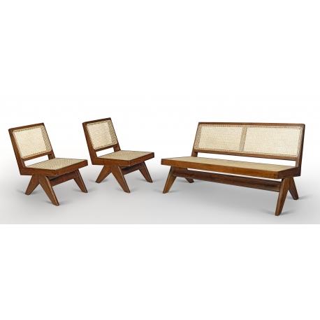 Teak lounge furniture.
