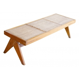 Teak bench.