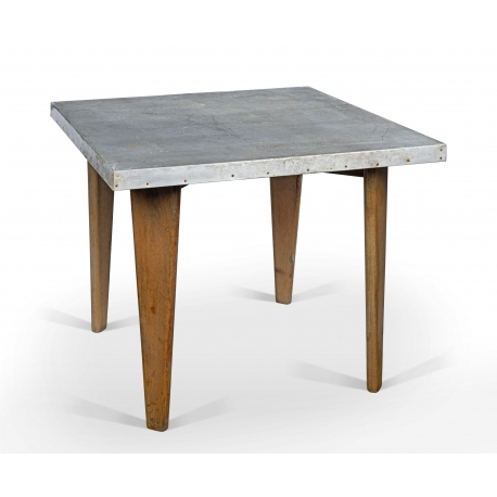 Teak and zinc table