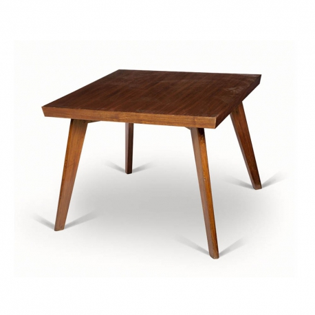 "Pierre JEANNERET. Table in solid teak and teak veneer known as ""Dining table""."