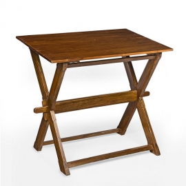 Pierre JEANNERET. Collapsible work table in solid teak and solid cedar.