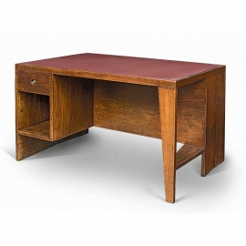 "Pierre JEANNERET. Desk known as ""office table"" in solid teak."