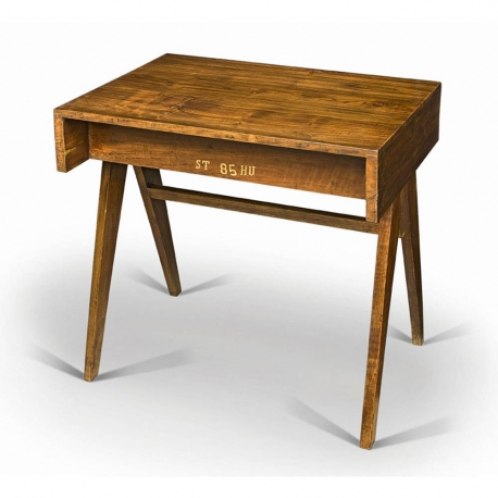 Pierre JEANNERET. Student desk in solid teak.