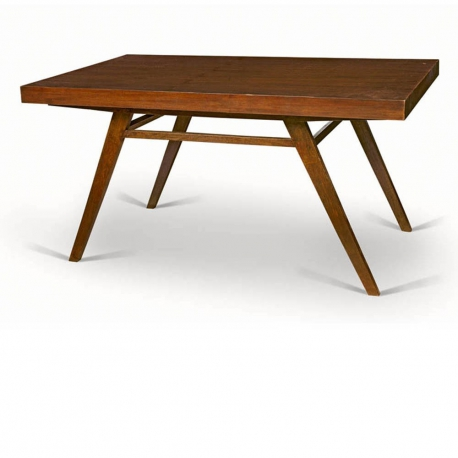 Pierre JEANNERET. Dining table in solid teak and teak veneer.
