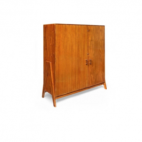 Pierre JEANNERET. File cupboard in solid teak and teak veneer.