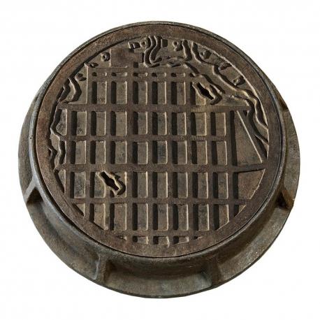 Charles Edouard JEANNERET aka LE CORBUSIER. Manhole cover