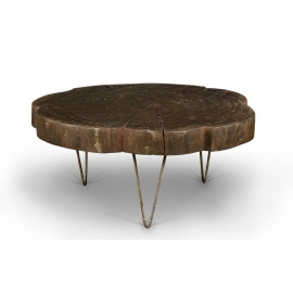 "LE CORBUSIER et Pierre JEANNERET. Table basse dite ""tree trunk"""