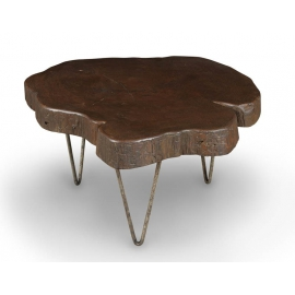 "LE CORBUSIER et Pierre JEANNERET. Table basse dite ""tree trunk""."