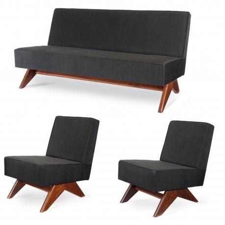 Pierre JEANNERET. Lounge furniture.