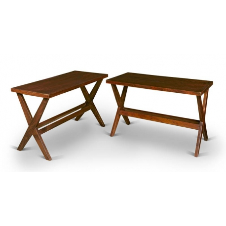 Pierre JEANNERET. Pair of console tables.