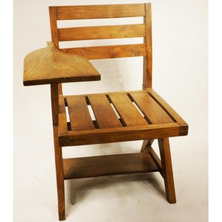 Pierre JEANNERET. Chaise écritoire.