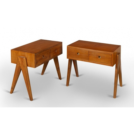 Pierre JEANNERET. Chest of drawers in solid teak.