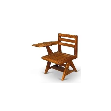 Pierre JEANNERET. Chaise écritoire en sisso.