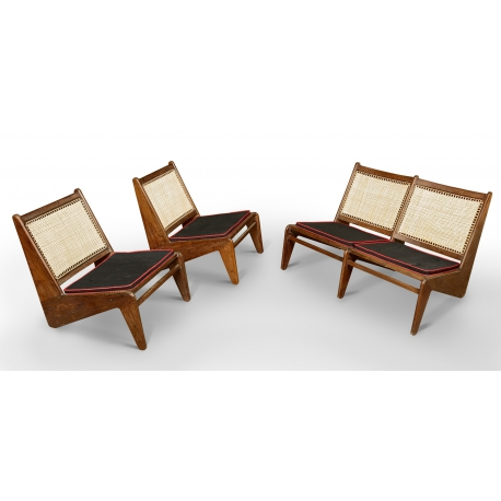 Pierre JEANNERET. Teak lounge furniture.