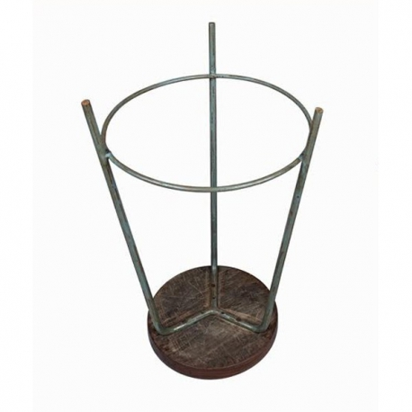 Pierre JEANNERET. Teak and iron stool.