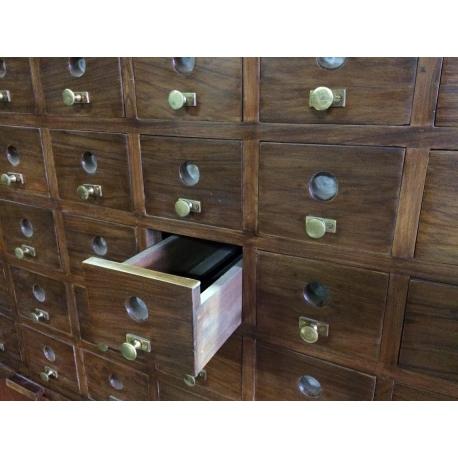 Pierre JEANNERET. Teak file cupboard.