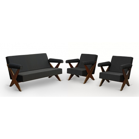 Pierre JEANNERET. Teak lounge furniture.