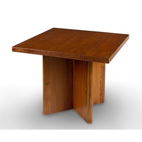 Pierre JEANNERET. Teak table.
